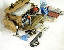 Fishing Tackle Bag Accessories Lure Bag Multi-Pocket shoulder Bag Gear Box Brown