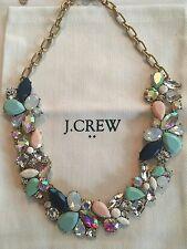 NWT J Crew Women's Mixed Stone Statement Necklace Scenic Aqua $59.50 #F4238