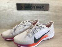 Women's Nike Zoom Pegasus Turbo 2 Vast Grey/White/Fire Pink AT8242-009 Size 10.5