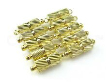 2 Magnetic Clasp Converters - Spiral Style - Gold Color - Jewelry Necklace