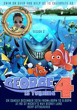 Personalisierte Geburtstagparty Einladungen Findet Nemo/Dori 8 Set A6