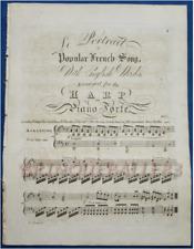 LONDRES HARPE PARTITION PIANO CHANT LE PORTRAIT MARIE-ANTOINETTE [PACINI] ±1825