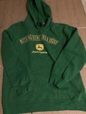 john deere green hoodie pullover sweatshirt Hoodie official Youth Xl