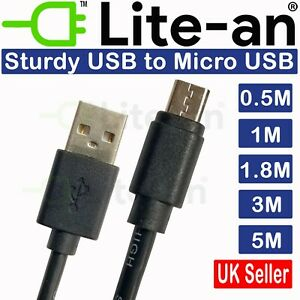 Heavy Duty Micro USB Charger Charging Lead  0.5M To 5M Data Long Phone Cable