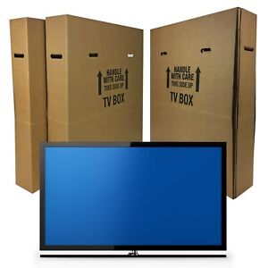 """uBoxes TV Moving Box Fits Up To 70"""" Adjustable Box"""