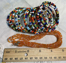 Beads for Crafting Jewelry Crf3-19 Multi Color Beaded Bracelet Orange Micro