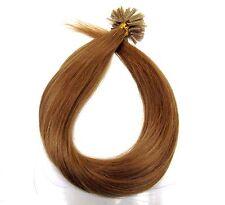 20 Echthaar Strähnen Extensions Haarverlängerung great 55cm lenght dunkelblond