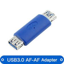 USB 3.0 A Female to USB 3.0 A Female AF/AF Adapter converter Blue