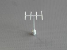 Lego - Antenna with Side Spokes - White (3144)