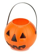 Kürbis-Eimer Halloween-Eimer orange-schwarz - Cod.47315