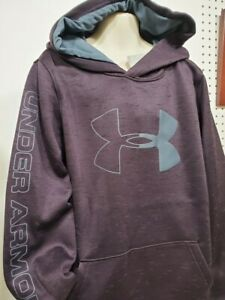 Boys Kids Youth UNDER ARMOUR ColdGear Pullover Hoodie NEW Purple Size Large