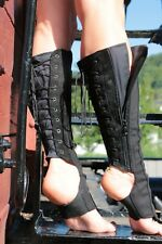 Aerial Boots with zipper Trapeze Boots VENAKI Trapezgamaschen Aerial Costume