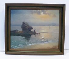 MANUEL TEJERO LISTED SPAIN ARTIST  LUMINIST OIL SPANISH COAST -COA