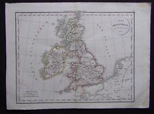 § carte Iles Britanniques - Félix Delamarche 1829
