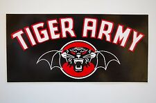 """Tiger Army Sticker Decal Punk Psychobilly Car Window Indoor/Outdoor 6"""" x3"""" (112)"""
