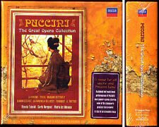 PUCCINI 9 Great Opera TEBALDI DEL MONACO BERGONZI 15CD Turandot Tosca La Boheme