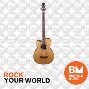 Takamine GB30 Acoustic Bass Guitar Left Hand Natural Pickup Cutaway TGB30CENATLH