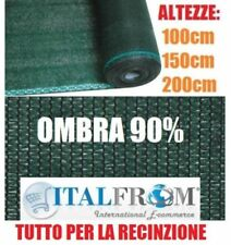 Rete Ombreggiante 90% Telo Ombra 25mt Frangivento Verde H100/150/200 cm Italfrom