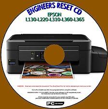 STAMPANTE Epson l130-l220-l310-l360-l365 rifiuti INCHIOSTRO PAD CONTATORE reset service disc