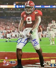 JOSH JACOBS SIGNED ALABAMA CRIMSON TIDE 8X10 PHOTO FLEXING BECKETT WITNESS COA