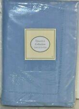 "NEW Lenox Neo Hemistitch TABLECLOTH Blue Cotton 60"" x 120 "" OBLONG"