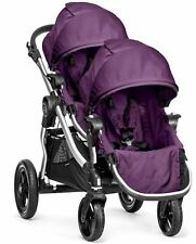 Baby Jogger City Select Twin Tandem Double Stroller Amethyst w/ Second Seat NEW