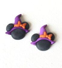 Halloween, Jewelry, Spooky, Disney, Kawaii Minnie Witch Hat Stud Earrings,