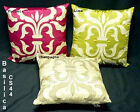 Cushion Cover-Basilica-colours lime, fuchsia, champagne-modern patchwork-45x45cm