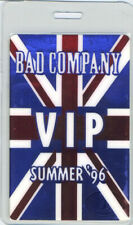 BAD COMPANY 1996 LAMINATED BACKSTAGE PASS PAUL RODGERS