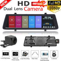 "10"" HD 1080P Coche Retrovisor Espejo DVR Doble Lente Cámara WIFI 3G Dual Lens"