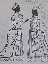 "Vintage Orig Franki's Antique Bebe Doll Parisian Dress Pattern Evangelin 13""-17"""