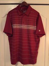 ⛳New Under Armour HeatGear Coldblack Mens Large-L Golf/Polo Shirt-Crimson Red