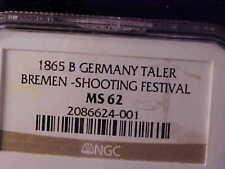 BREMEN SHOOTING FESTIVAL THALER NGC MS 62