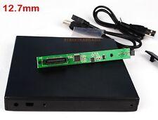 USB 2.0 Slim External Case Enclosure for 12.7mm PATA IDE CD DVD RW Burner Drive@