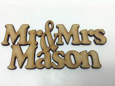 MDF,  Mr & Mrs  for Crafting - Weddings - Laser Cut