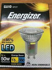 4 X LED GU10 Classic Glass 5W 3000K Spot Light Bulb 350lm Bulb Energizer 9408
