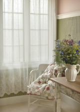 "Heritage Lace White FLORET Curtain Panel 60""Wx84""L"