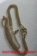 St John Knits Double Chain Gold Pave Stone Belt Size Petite/Small NWT MSRP $195