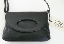 Latico Camille Crossbody Bag Purse Black Leather Card Slots Shoulder Strap NWT