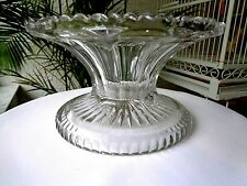 Antique Fostoria Bedford Pattern Punchbowl Base 1901
