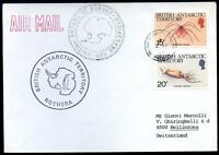 BRITISH ANTARCTIC TERRITORY TO SWITZERLAND Air Mail Cover 1990