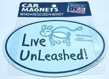 Live Unleashed Dog Magnet US Made Dog Rescue Car Magnet