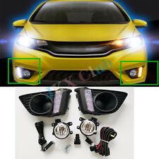 For Honda Fit Jazz GK5 2014-2017 LED Daytime DRL Running Light Fog Harness kit o