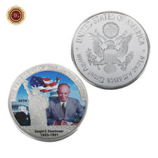 WR 1953-1961 Dwight D. Eisenhower Signed SILVER Coin 34th US President Souvenirs