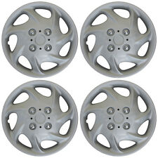 "4 Piece Set 15"" Inch Hub Cap Silver Skin Rim Cover for Steel Wheel Covers Caps"