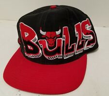 "RARE Vintage 90's NBA Chicago Bulls ""Graffiti"" Snapback Hat By Drew Pearson"