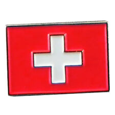 Swiss Flag, Switzerland Metal Enamelled Pin Badge Lapel Badge XJKB3-07