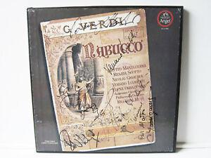 2 LP Box Verdi Nabucco SIGNED BY OPERA SINGERS MANAGUERRA & LUCHETTI !