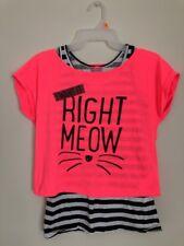 Lc Waikiki Girls 2 Pieces Top T Shirt Pink Black White Size 13-14