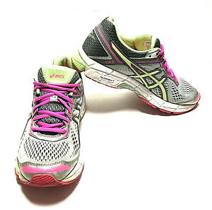 ASICS GT-1000 Silver Pistachio Pink Shoes Womens Size 9.5 (T5A8N) (W-153)